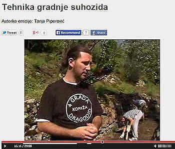 Reportaža o gradnji suhozida – Škrinja RTCG